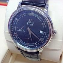 Omega De Ville Prestige Steel 39.5mm Blue Roman numerals