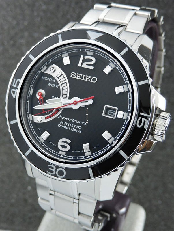 Seiko SRG019P1 Sportura Kinetic Direct Drive for  393 for sale from a  Trusted Seller on Chrono24 a9ace54f19