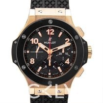 Hublot Big Bang Gold Ceramic Black 18k Gold/Rubber 44mm -...