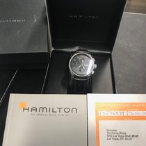 Hamilton Chronograph 45mm Automatic 2009 pre-owned Jazzmaster Maestro Black