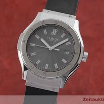 Hublot Steel Quartz Silver 41.5mm pre-owned Classic Fusion 45, 42, 38, 33 mm