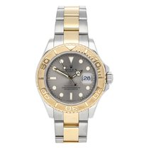 Rolex Yacht-Master 40 pre-owned 40mm Silver Date Fold clasp