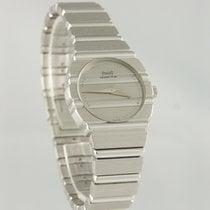 Piaget Polo Złoto białe 23mm Srebrny