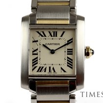 Cartier Tank Française pre-owned White Gold/Steel