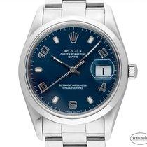 Rolex Oyster Perpetual Date Acél 34mm Kék Arab