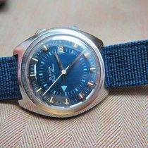 Bulova Vintage Wrist Alarm   Amazing blue dial