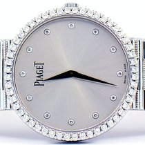 Piaget Traditional 18k White Gold With Factory Diamonds