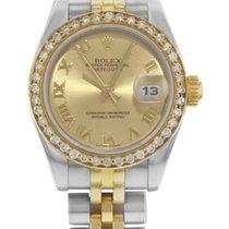 Rolex Datejust 179173 18K Yellow Gold & Steel Custom Dial Watch