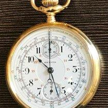 Zenith Taschenuhr  18 K Chrono mit Tachymeter-Skala und Zähler