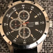 Seiko Chronograph Black and White