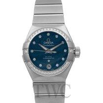 Omega Constellation Ladies Steel 27mm Blue