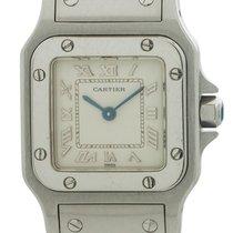 Cartier Santos Galbée pre-owned 24mm White Fold clasp