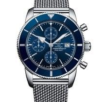 Breitling Superocean Héritage II Chronographe Сталь 46mm Синий Без цифр