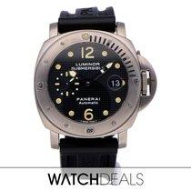 Panerai Luminor Submersible Titanium 44mm Black Arabic numerals