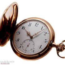 IWC Savonette Pocket Watch 14k Rose Gold Bj-1897