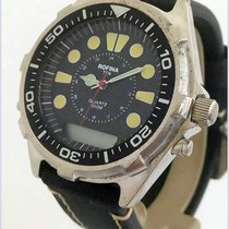 Rofina Ten Military Diver 100M Quartz ANA-DIGI Chrono 46mm