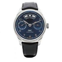 IWC Portuguese Annual Calendar Acier 44,2mm Bleu Arabes France, Paris
