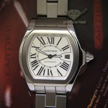 Cartier Roadster 40mm Steel Silver Dial Mens Automatic Watch 3312