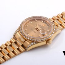 Rolex 36mm 18K YG Day-Date w/ Custom Diamonds - 18238 Double...