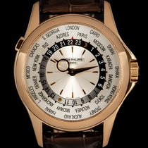 Patek Philippe World Time Rose gold 39.5mm Silver