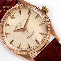 Rolex Rose gold Automatic White 34mm pre-owned Oyster Perpetual