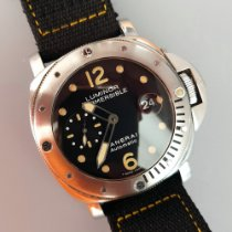 沛納海 Luminor Submersible PAM 00024 非常好 鋼 44mm 自動發條