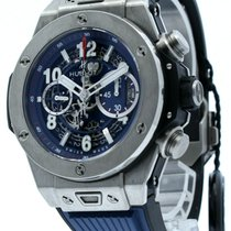 Hublot Big Bang Unico pre-owned 45mm Blue Date Rubber