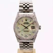 Rolex Datejust Steel 36mm Mother of pearl No numerals