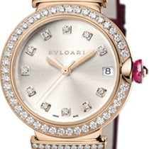 Bulgari Rose gold Automatic Silver 33mm new Lucea
