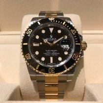 Rolex Submariner Date Goud/Staal 40mm Zwart Geen cijfers