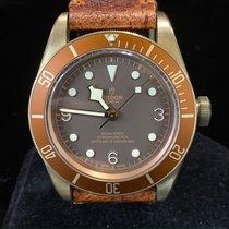 Tudor Black Bay Bronze Brons 43mm Bruin Geen cijfers