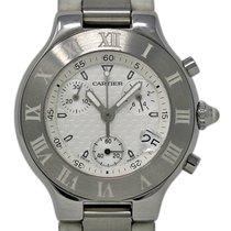Cartier 21 Chronoscaph Stahl 38mm Weiß