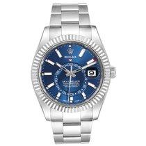 Rolex Sky-Dweller occasion 42mm Bleu Date Affichage des mois Calendrier annuel GMT Acier