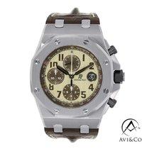 Audemars Piguet Royal Oak Offshore Chronograph Ατσάλι 42mm Άσπρο Αραβικοί