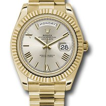 Rolex Day-Date 40 Or jaune 40mm Argent Romains