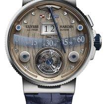 Ulysse Nardin MARINE GRAND DECK Leather Blue Strap White Gold...