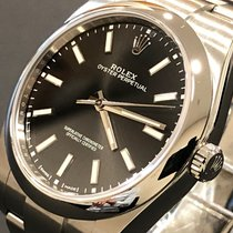 Rolex Oyster Perpetual 39 Steel 39mm Black No numerals