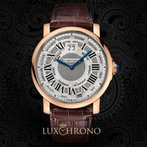 Cartier Rotonde de Cartier Or rose 45mm Argent Romain