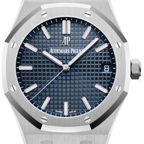 Audemars Piguet Royal Oak Acero 41mm Azul Sin cifras
