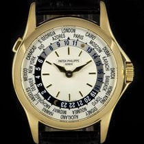 Patek Philippe World Time Yellow gold 37mm Silver