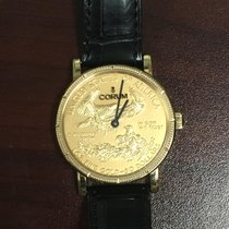 Corum Coin Watch Красное золото 36mm Золотой Без цифр