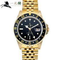 Rolex Yellow gold Automatic Black 40mm pre-owned GMT-Master