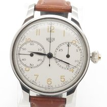 Heuer Vintage 1950's One Button Chronograph Pocket Watch...