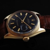 Rolex Oyster Perpetual Lacqued Black Dial 18k Gold 50's
