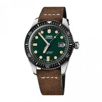 Oris Divers Sixty-Five Leather Strap 42mm Mens Watch 733772040...