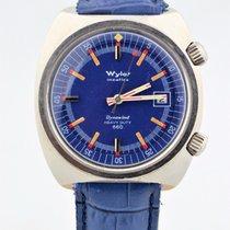 Wyler Incaflex Dynawind Heavy Duty 660 Blue Dial Stainless...