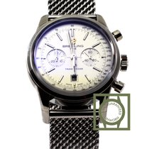 Breitling Transocean Chronograph 38mm Steel Silver Dial NEW