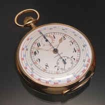 Longines Taschenuhr-Chrono mit Tachymeter-Skala und Zähler