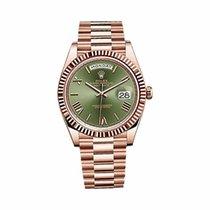 Ρολεξ (Rolex) Day Date 40mm Rose Gold Green Dial - 228235
