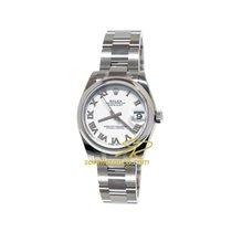 Rolex Lady-Datejust 178240 Rolex Datejust Bianco Romani Oyster 31mm neu